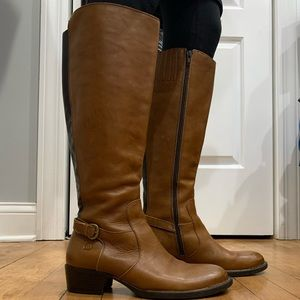 Born Helen Riding Boot Golden Sand Leather 7